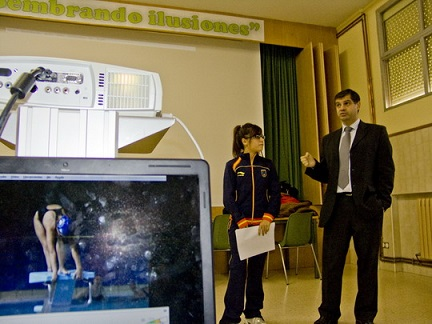 Charlas impartidas por nuestra socia Ester Rodríguez en la Fundación Provincial de Deportes.