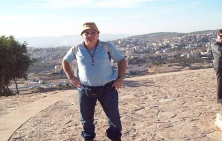 Visita de José L. Cougil a Tierra Santa