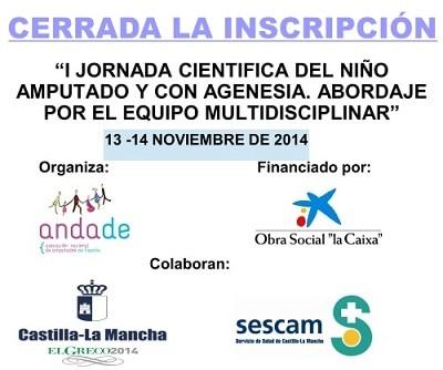 Programa I Jornada científica del niño amputado y con agenesia.